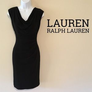 Lauren Ralph Lauren Cowl Neck Sheath